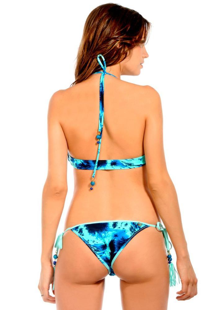 SPLASH AQUAMARINE Tie Side Bikini Bottom Maya Swimwear back