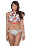 AMAZON FLOWER  Reversible Bikini Bottom by Maya Swimwear