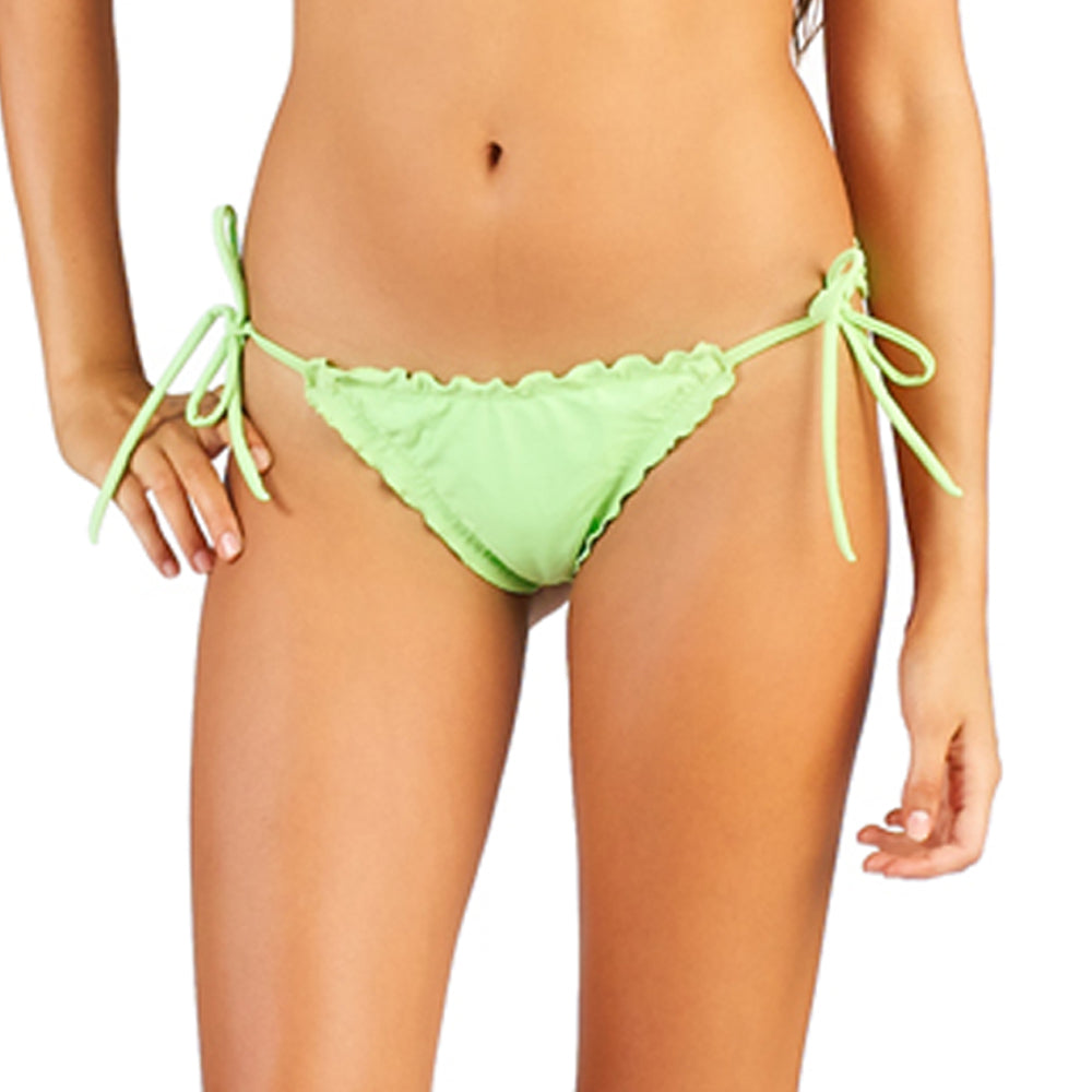Summery Green Less Coverage Tie Side Bottom