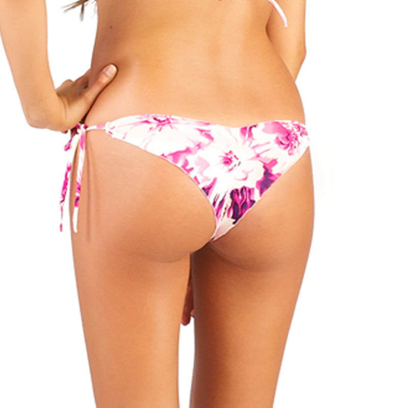 Wild Flower Fuchsia Less Coverage Tie Side Bottom