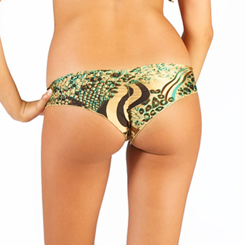 Emerald Tiger Scrunch Bikini Bottom
