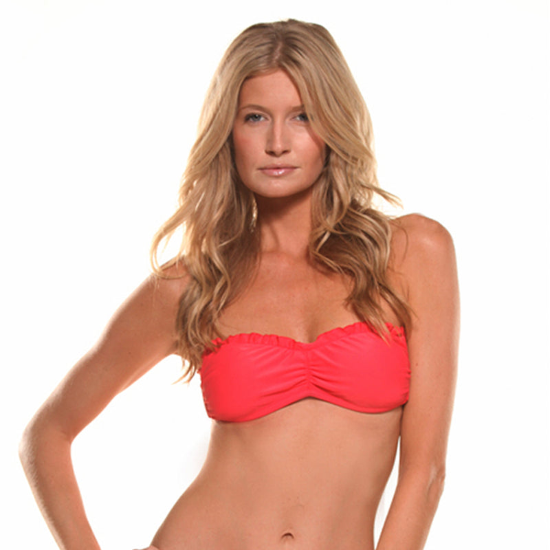 Red Scarlet Signature Bandeau Top
