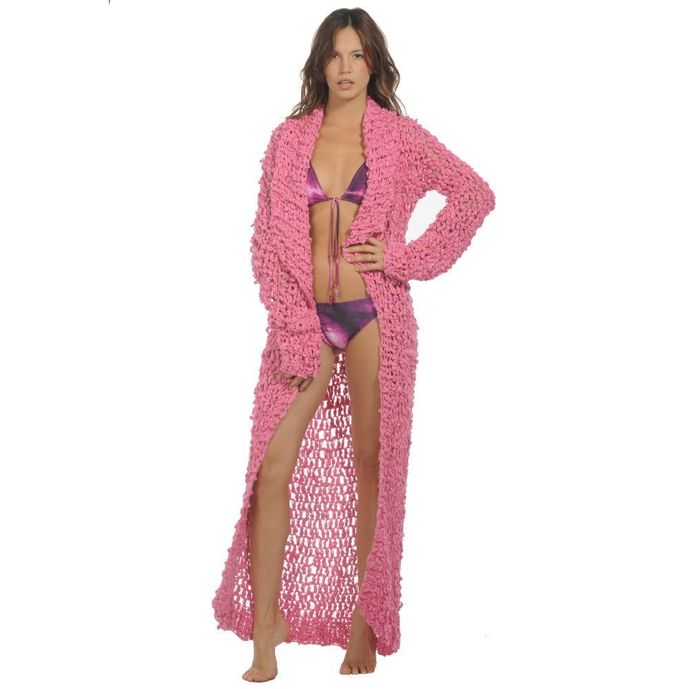 Swell Pink Crochet Coat