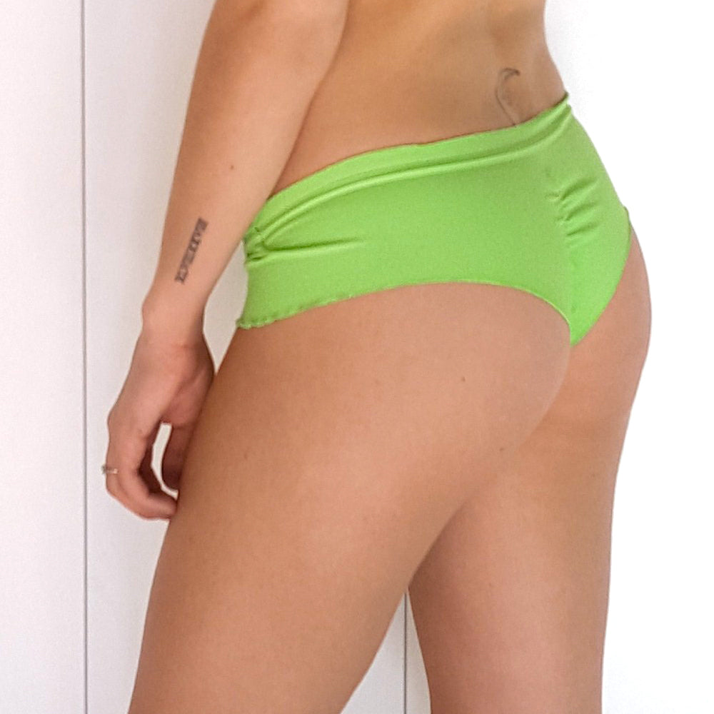 Summery Green Boyshort Scrunch Bikini Bottom