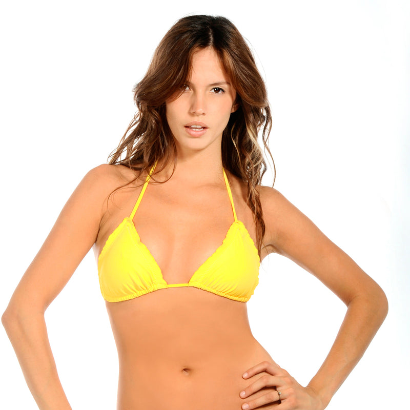 Yellow Amber Signature Triangle Top