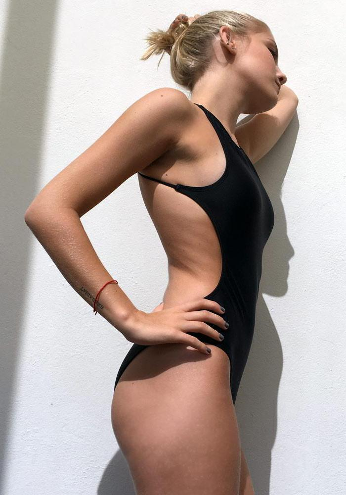 black one piece swimsuits