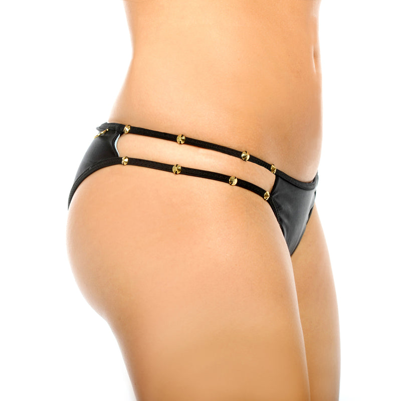 Sunset Rivet Black Onyx Double String Bottom