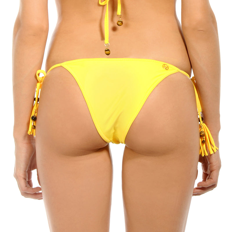 Gem Tassel Yellow Amber Tie Side Bottom