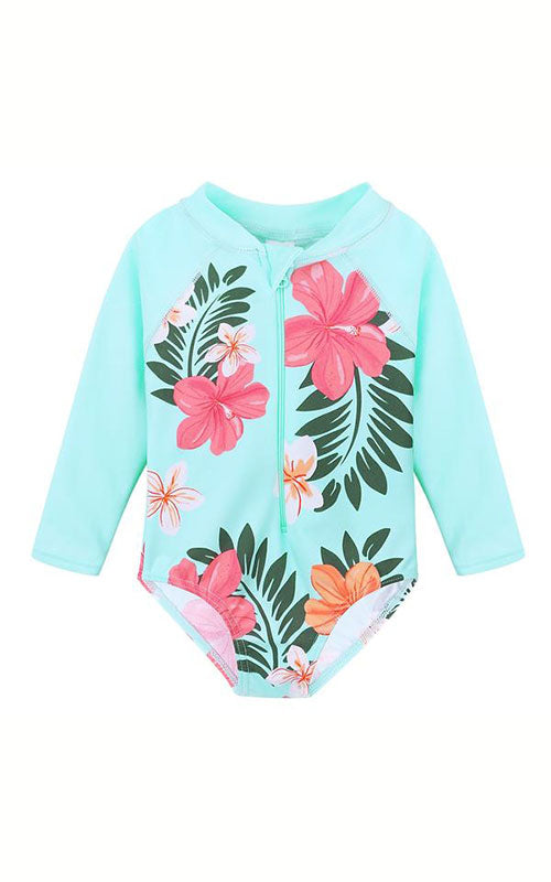 MAYA UNLIMITED Girls Flower Long Sleeve Swim