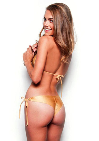 AZALEA Tie Side Scrunch Bikini Bottom (FINAL SALE) - Celebrity Style