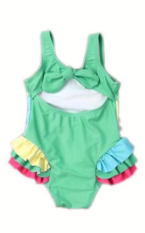 MAYA UNLIMITED Girls Canary Carnival One-Piece Swimwear back