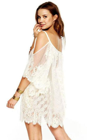 IVORY Bohemian Cover Up Dress Maya Swimwear