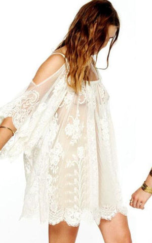 IVORY Bohemian Cover Up Dress Maya Swimwear front