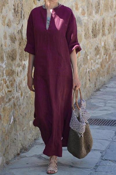 Maya Unlimited Oversized Linen Dress