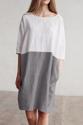 Maya Unlimited Bat Linen Dress