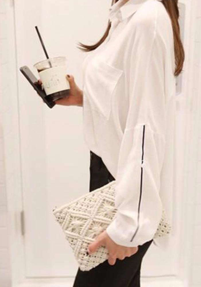 Bohemian Clutch Bag white2