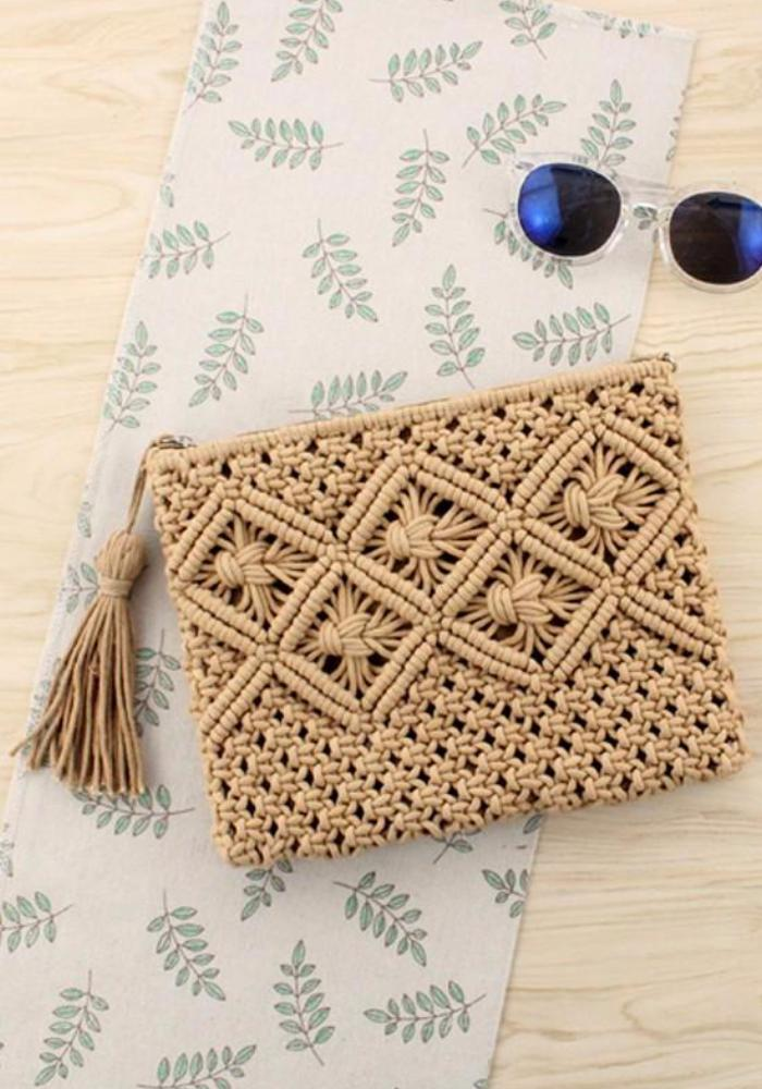 Bohemian Clutch Bag brown