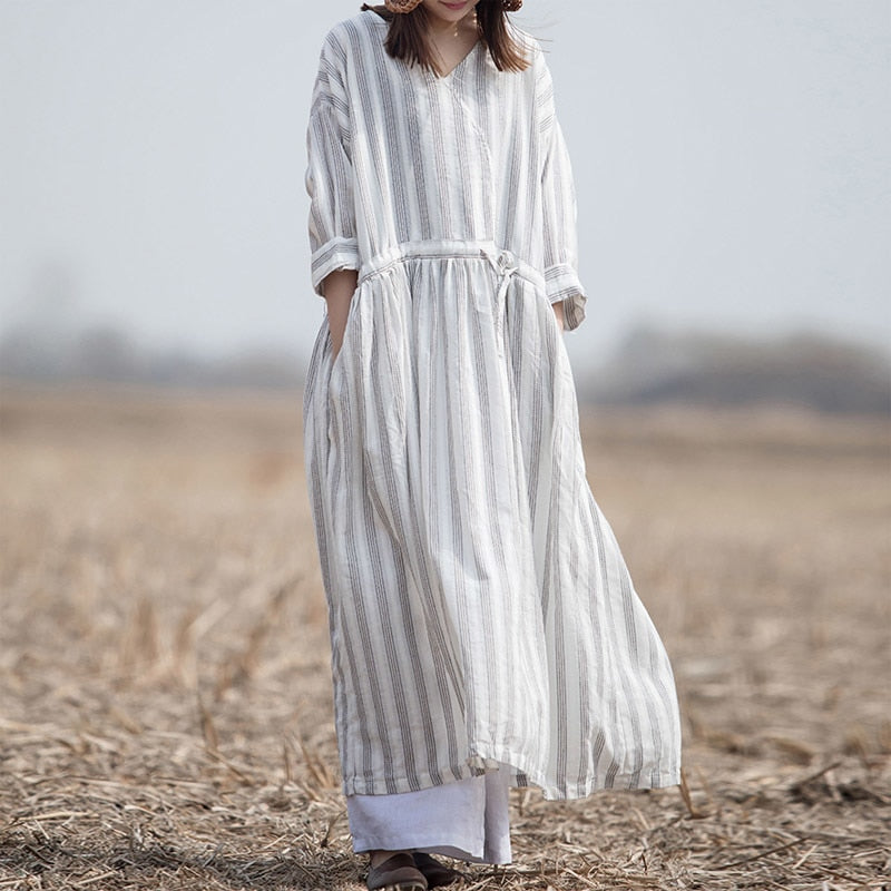 Summer Stripe Vintage Dress
