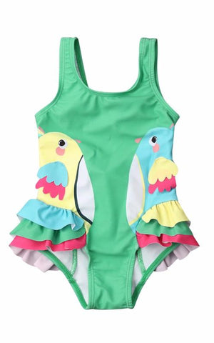 MAYA UNLIMITED Baby & Girls Tropical Flower One-Piece Swimwear