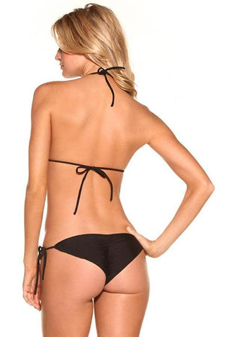 BLACK Less Coverage signature scrunch Bottom - Celebrity Style
