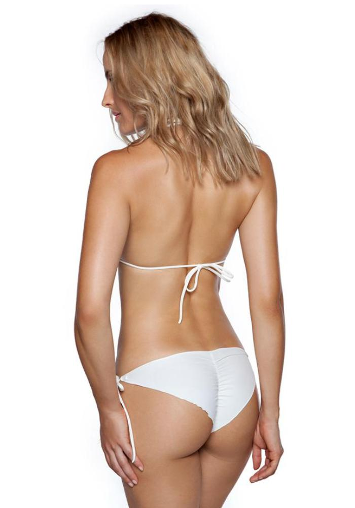 IVORY Tie Bikini Bottom by Maya Swimwear