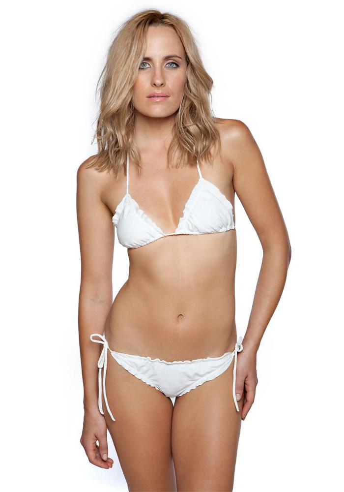 IVORY Tie Bikini Bottom by Maya Swimwear front