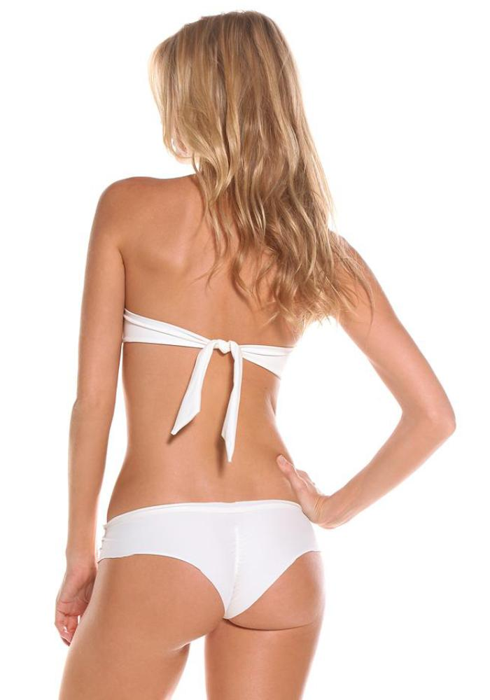 IVORY Boyshort Signature Bikini Bottom | Maya Swimwear