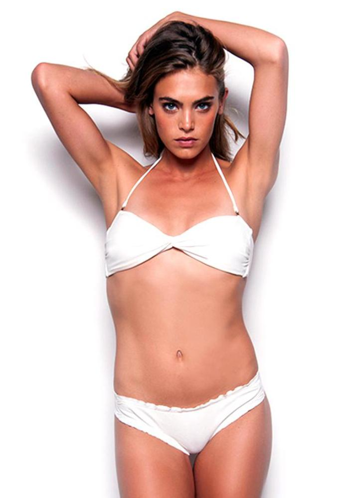 IVORY Twist Bandeau Top by Maya Swimwear
