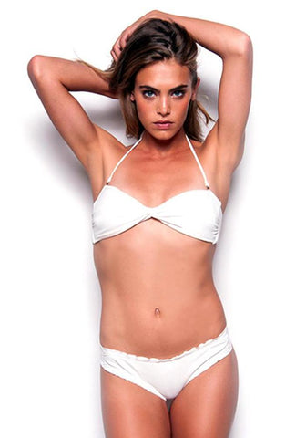 WHITE MARBLE Strapless Bathing Suit