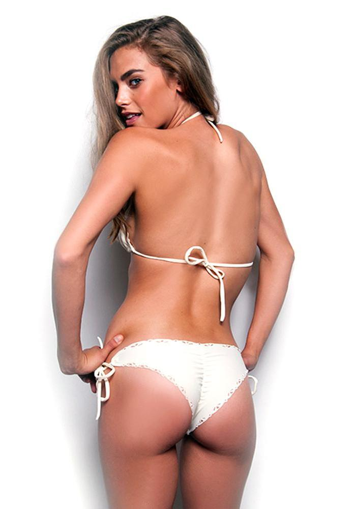 Tinkerbell Ivory Tie Side Bottom Maya Swimwear