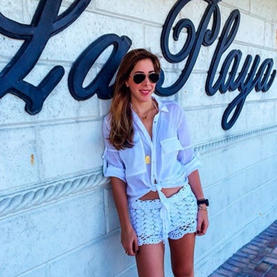 WHITE CROCHET SHORT