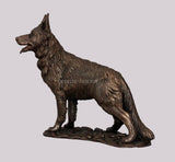 Alsatian German Shepherd Dog Cold Cast Bronze Sculpture / Trophy / Gift