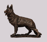 Alsatian / German Shepherd Dog Cold Cast Bronze Sculpture / Trophy / Gift