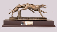 Racing Greyhound Dogs Cold Cast Bronze Sculpture / Trophy / Gift