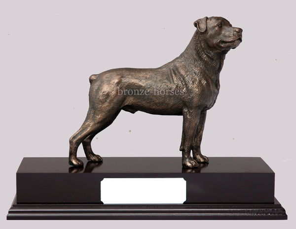 Rottweiler Dog Cold Cast Bronze Sculpture / Trophy / Gift