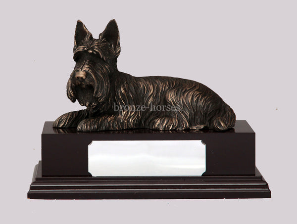 Scottie Dog Cold Cast Bronze Sculpture / Trophy / Gift