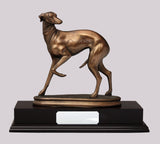 Whippet Dog Cold Cast Bronze Sculpture / Trophy / Gift
