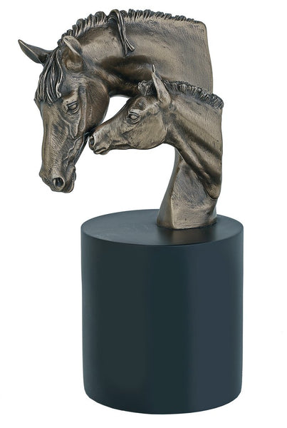 PP032 Mare & Foal Bust Cold Cast Bronze Sculpture Made in the UK