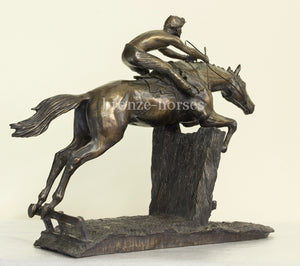 At Full Stretch Bronze Horseracing Trophy (Small version)