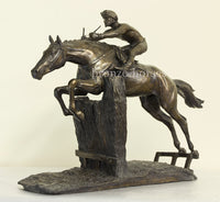 At Full Stretch Cold Cast Bronze Horseracing Sculpture / Trophy / Gift