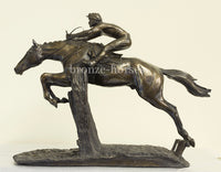 At Full Stretch Cold Cast Bronze Horseracing Sculpture / Trophy / Gift (Small version)