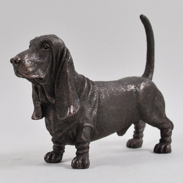 Basset Hound Dog Cold Cast Bronze Sculpture / Trophy / Gift