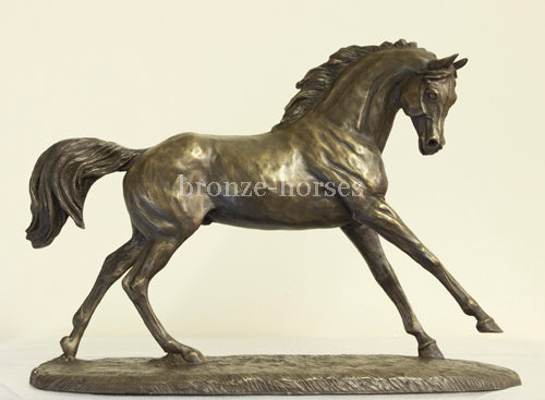Cantering Arabian Cold Cast Bronze Equestrian Sculpture / Trophy / Gift