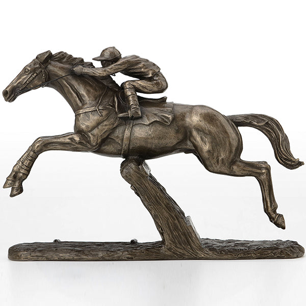 Champion Hurdler Cold Cast Bronze Horseracing Sculpture / Trophy / Gift
