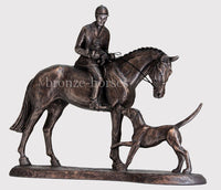 Country Companions Bronze Hunting Equestrian Trophy