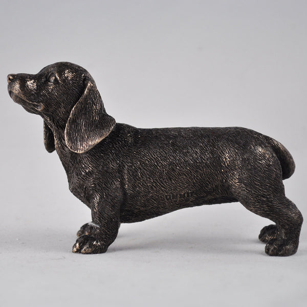 Dachshund Dog Cold Cast Bronze Sculpture / Trophy / Gift