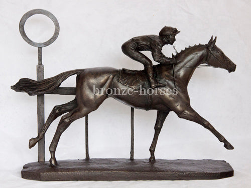 Cruising Home Cold Cast Bronze Horse Racing Sculpture / Trophy / Gift Hand Made in the UK