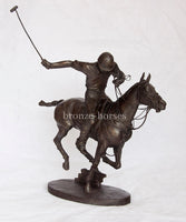 Polo Player Cold Cast Bronze Sculpture / Trophy / Gift Handmade in the UK