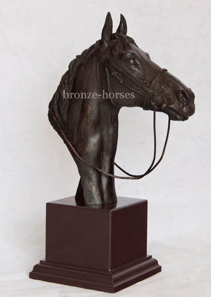 Thoroughbred Horse Bust Cold Cast Bronze Sculpture / Trophy / Gift David Geenty