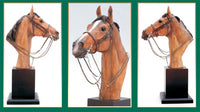 Thoroughbred Bust Sladware Sculpture Handpainted Made in the UK